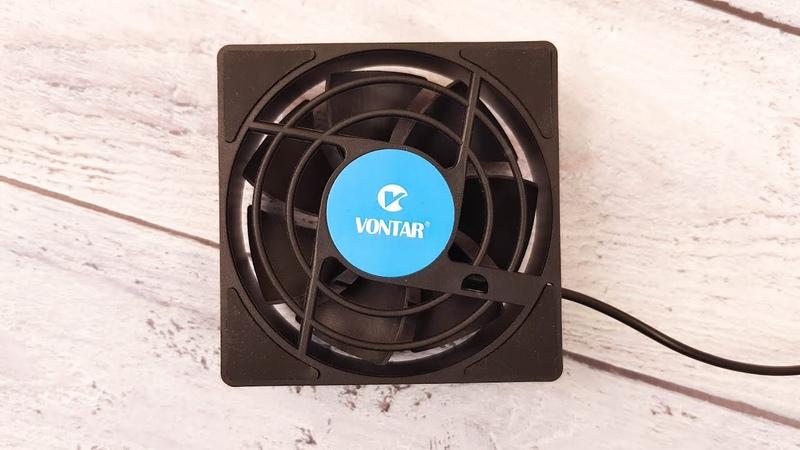 Vontar C1 USB вентилятор для Android TV приставок Охлаждаем H96 MAX X3 Vontar X3 и Mecool M8S Pro