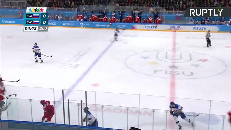 Хоккей. Россия Словакия Универсиада 2019 финал