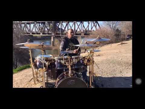 Eric Moore custom DW Maple Mahogany African Rose Wood Drum Set / RootBeer
