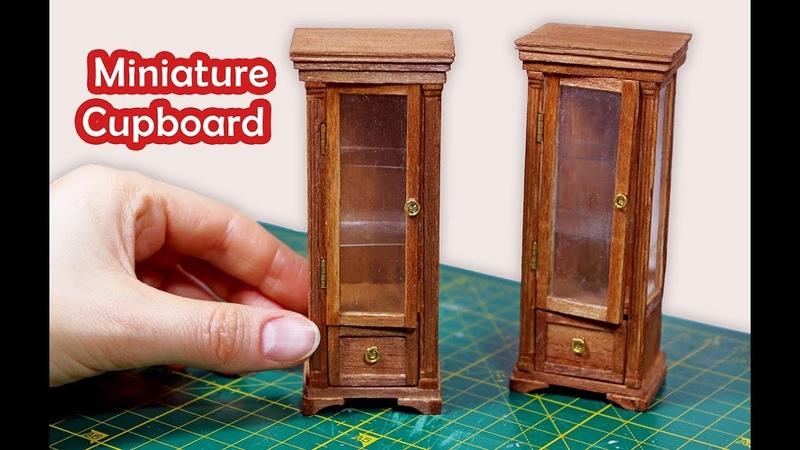 Miniatur Cupboard Cabinet Tutorial Dollhouse Furniture Minyatür Mobilya