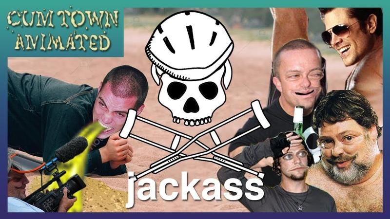 Jackass Cum Town Animated
