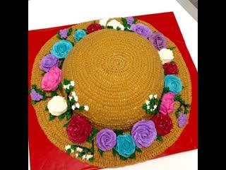 """Как сделать торт """"дамская шляпа с цветами"""". / наша группа в  """"торты на заказ. мировые шедевры""""."""