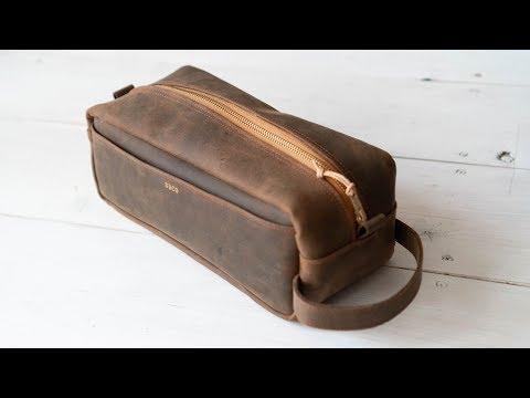 Making an Oil Tan Leather Dopp Kit