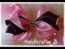 Moño de listón satinado fácil de hacer / ribbon bow step by step