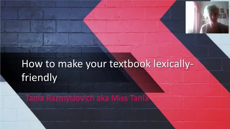 Tania Razmyslovich How to make your textbook lexically friendly