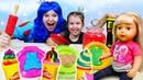 Принцессы мама и дочка готовят для Куклы Беби Бон! Лучшие видео игры с пластилином Плей До.