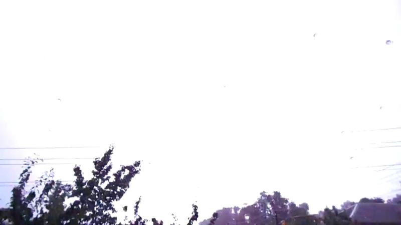 Близкий удар молнии во время грозы в Гомеле 12 июля 2016 Meteothica