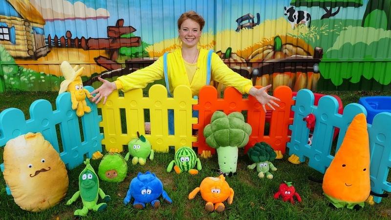 Peppa Wutz erntet Obst und Gemüse Spielzeugvideo für Kinder