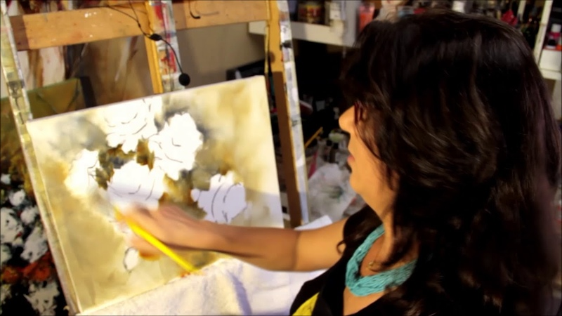 Como pintar rosas processo completo PINTURA ACRÍLICA