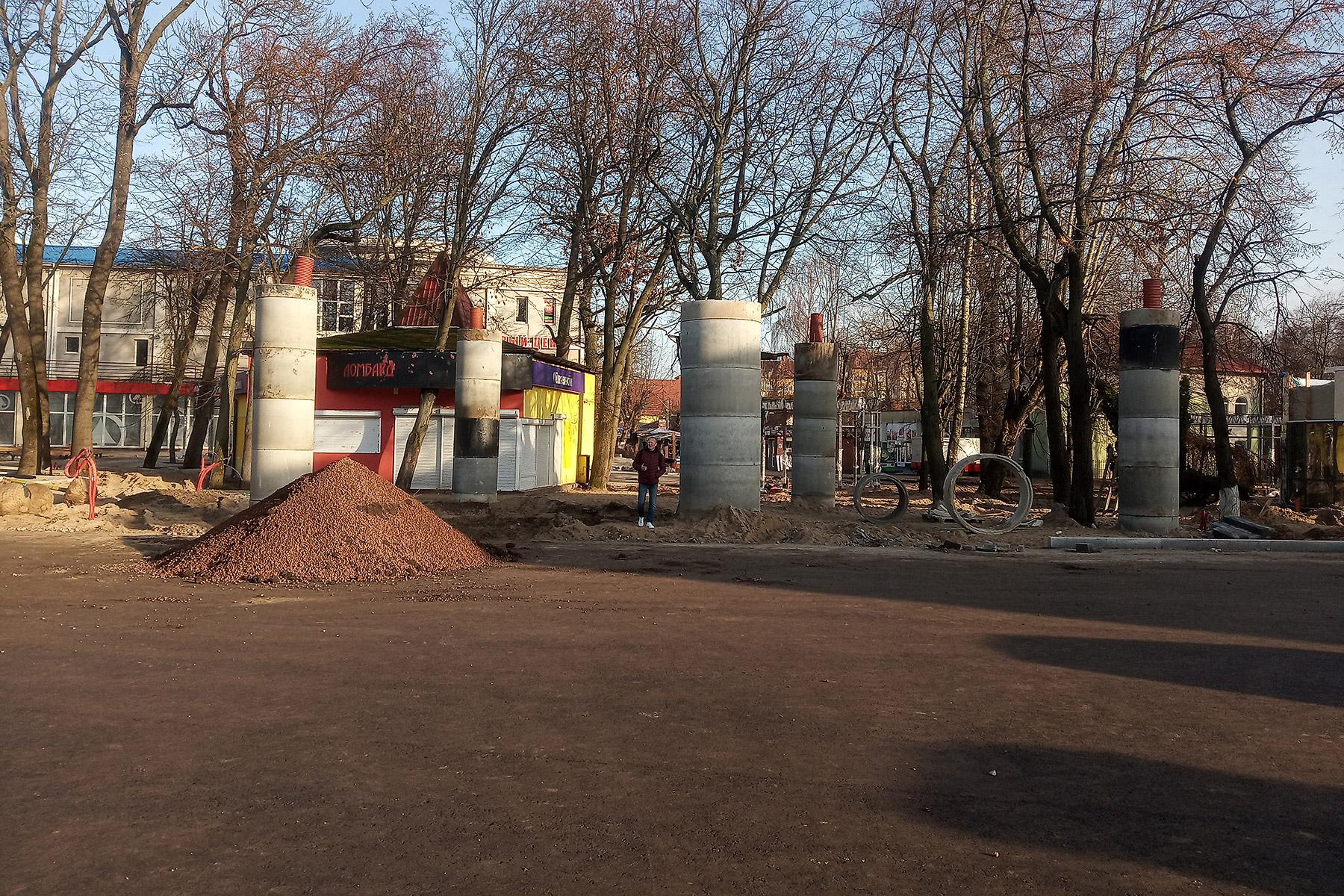 Привокзальная площадь Зеленоградска 17 ноября 2019 г.