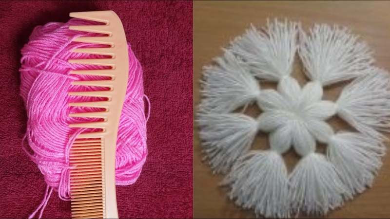Amazing Hair Comb Beautiful Flower Design Trick And Trick Hand Embroidery