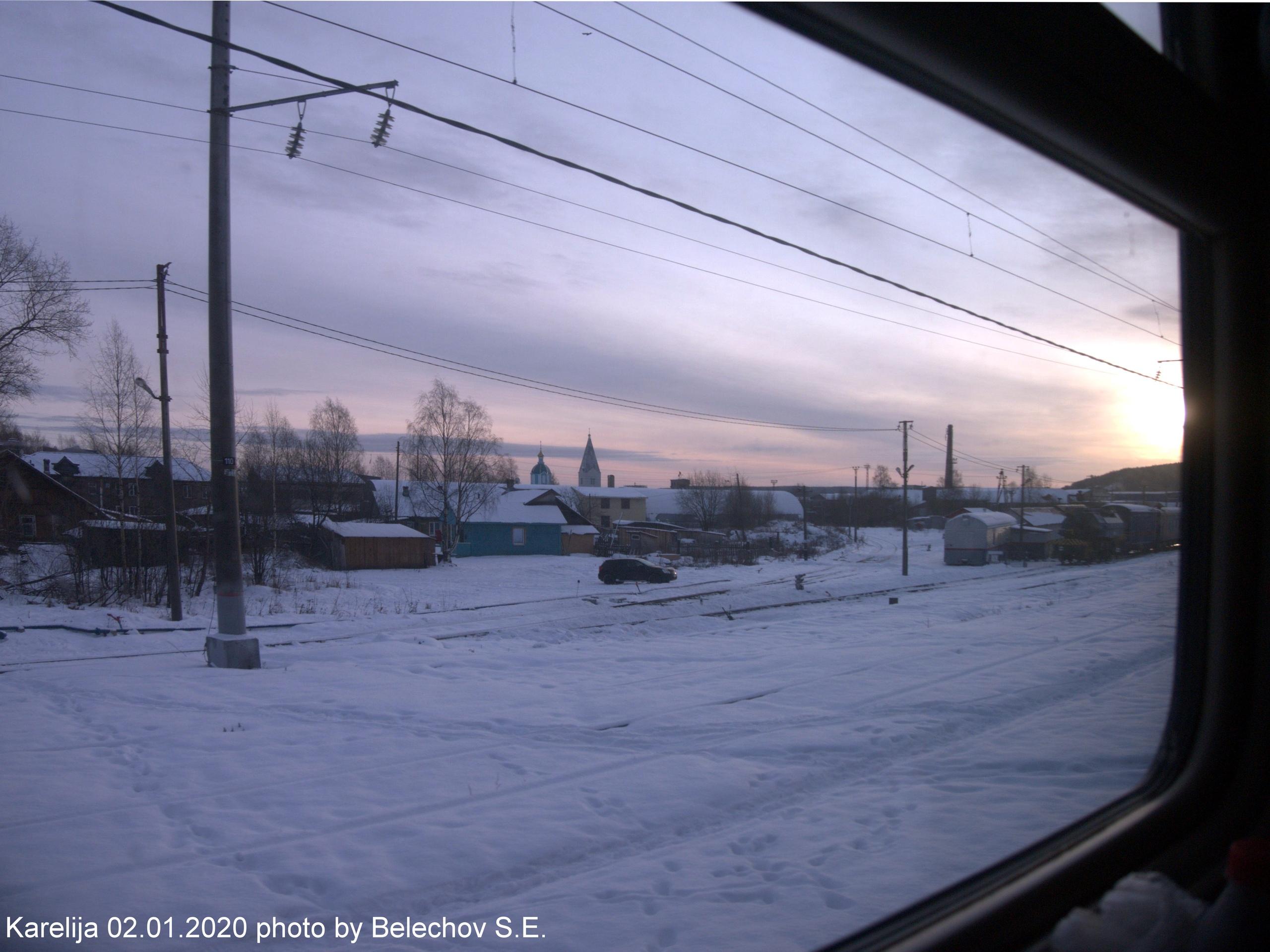 Карелия, Медвежьегорск, железная дорога