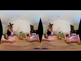 Kenzie Reeves, Victoria Steffanie vr porn oculus rift pov vitrual reality virtual sex HD threesome blonde babe порно