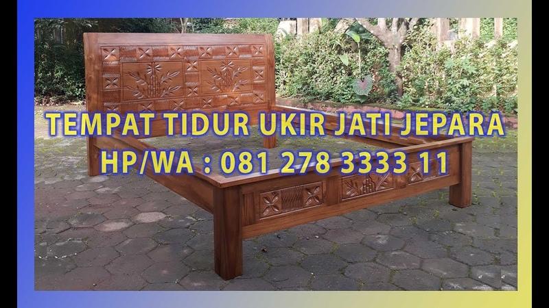 Jual Ranjang Dipan Jati Ukir Pohon Bambu By Jepara Indah Furniture