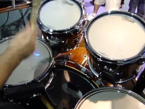 NAMM 2012 Aquarian inHEAD trigger drumheads