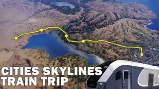 Amtrak Train Trip: First Person | Cities Skylines | Marble Mountain 07