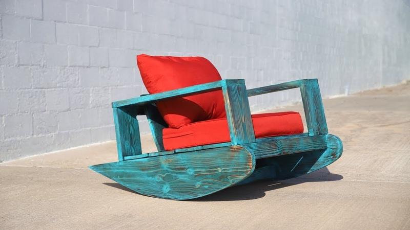 DIY Outdoor Furniture Outdoor Rocker w Shou Sugi Ban Beginner DIY Project