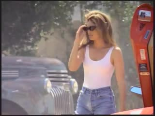 Cindy Crawford in Pepsi Super Bowl commercial, 1992