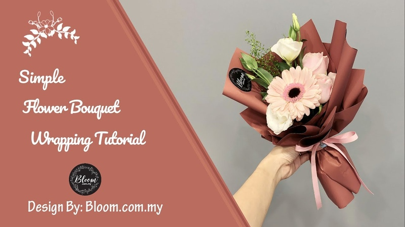 Simple Flower Bouquet Wrapping Tutorial