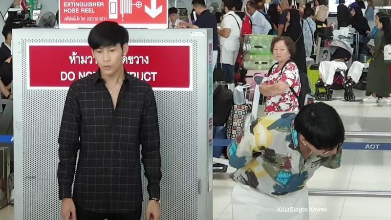 Krist Singto ส่งคริส สิงโต ไป 2019 FAN MEETING IN MANILA @ สนามบินสุวรรณภู