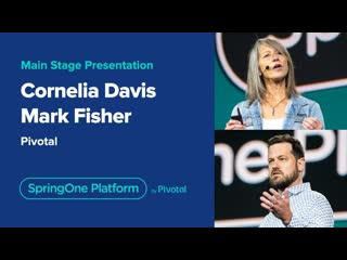 Mark fisher and cornelia davis at springone platform 2019