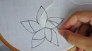 Hand embroidery buttonhole stitch flower modern flower embroidery