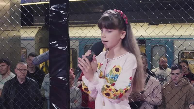 Дочка поет в поддержку Отца Полина дочь Василия Новикова перед боем Битва за Хайп Метро Дневник Хача