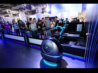"Alibaba robot ""space egg"" hotel room service"