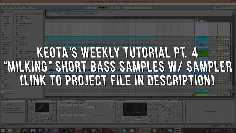 Keota's Weekly Tutorial pt. 4: Milking Short Bass Samples W/ Sampler Serum FX
