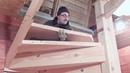 Винтовая лестница своими руками для дома и дачи моя работа