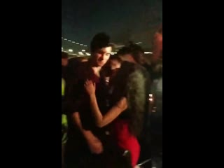August 8: camila and shawn at his birthday party in new york