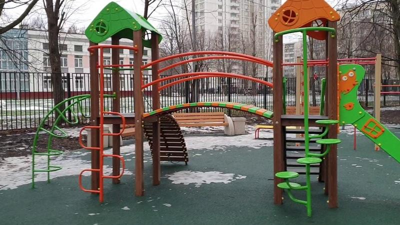 ЖК Счастье в Тушино Группы Эталон, январь 2020г. - придомовая территория, детские площадки