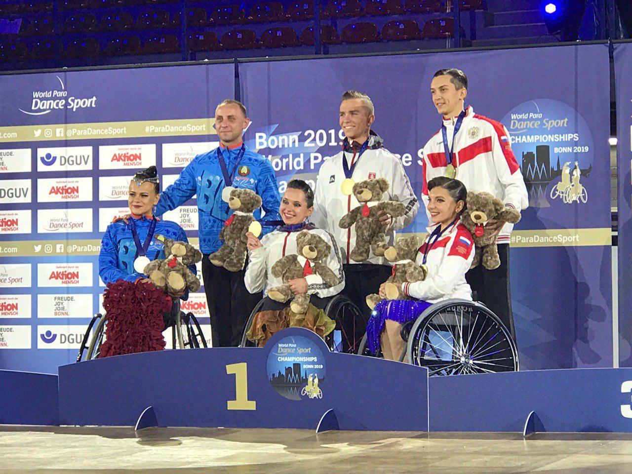 Брестчане взяли «серебро» на Чемпионате мира по танцам на колясках