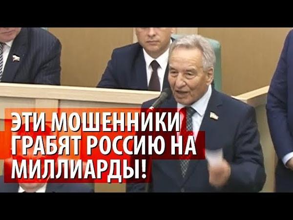 Мошенники грабят миллиарды Скандальное заявление Штыгашева в СовФеде