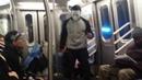 Breakdancers in NYC subway train perform with Lenin Takoy Molodoy Russian song Ленин Такой Молодой