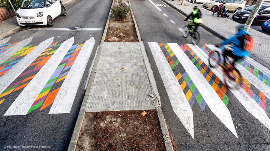 Madrid's Crosswalks Turned into Colorful Artworks by Christo Guelov