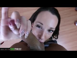 Jada stevens [ assholes & brunettes & close up & casting / cumshot in mouth, swallow cum, licking eggs, deep blowjob]