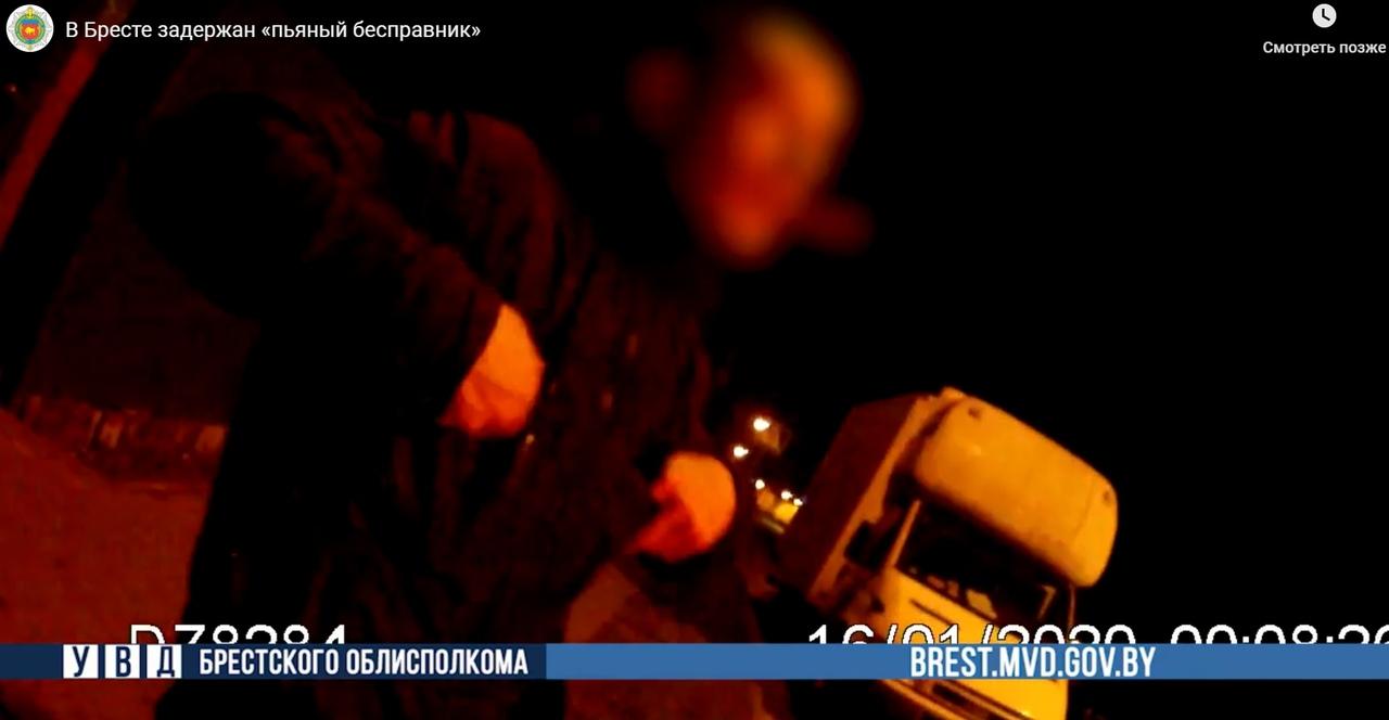 В Бресте задержан «пьяный бесправник» на автомобиле «Ивеко»
