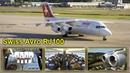 Swiss Avro RJ100 Business Class - AMAZING views, incl. Cockpit! [AirClips full flight series]