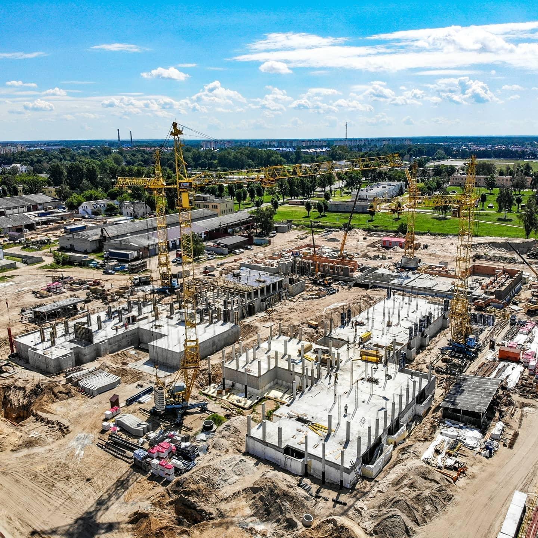 Новый медицинский центр в Бресте на вот такой стадии строительства