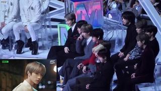 191130 BTS (방탄소년단) Reaction to TXT (투모로우바이투게더) Stage @ Melon Music Award 2019