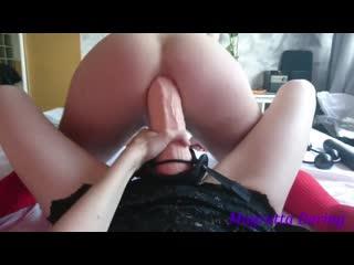 Anal male slut cowboy gaped with strapon huge dildo_ magretta dering femdom