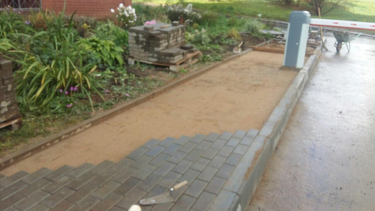 Улица Ломоносова дом 18 ремонт тротуара