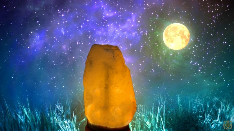 Positive Aura Cleanse Chakra Clearing Manifest Miracles Healing Salt Lamp Music