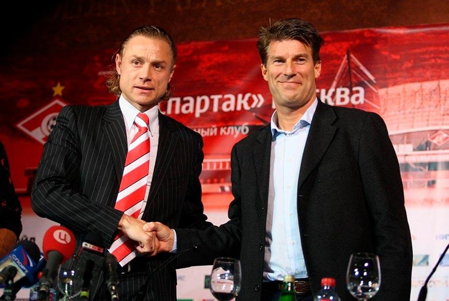 Валерий Карпин и Брайан Лаудруп