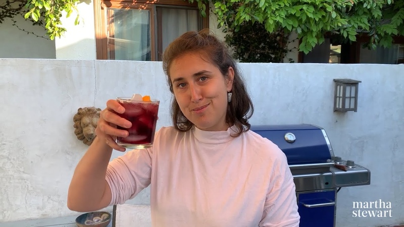 Lauryn Makes an AMAZING Red Wine Spritz StayHome Make Summertime Drinks WithMe Everyday Food