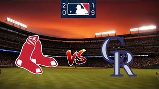Boston Red Sox vs Colorado Rockies - August 28, 2019 - Regular Season 2019  MLB - Full Game