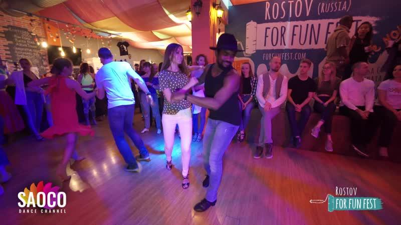 Mambo Brown and Anna Krylova Salsa Dancing at Rostov For Fun Fest Russia Sunday 03 11 2019 SC
