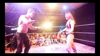 CARA NOIR aka PAVO REAL vs NINA SAMUELS aka DIABLESA ROSA: Lucha Britannia World Title Match
