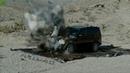 Выстрел из танка в замедленной съемке